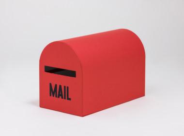 テーブルウェアクローゼット メールボックス レッド L
