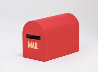 テーブルウェアクローゼット メールボックス レッド S