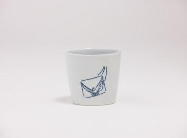 テーブルウェアクローゼット カップ ハト アライバル レター クリア M