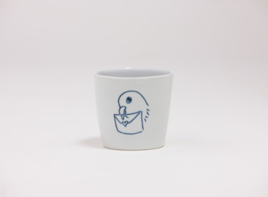 テーブルウェアクローゼット カップ ハト ラブレター クリア M