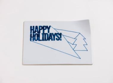 テーブルウェアクローゼット クリスマスレタープレート ハッピーホリデー クリア M