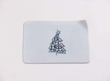 テーブルウェアクローゼット クリスマスレタープレート メリークリスマス クリア M