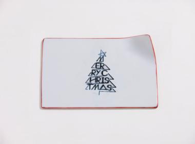 テーブルウェアクローゼット クリスマスレタープレート メリークリスマス レッド M