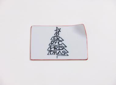 テーブルウェアクローゼット クリスマスレタープレート メリークリスマス レッド S