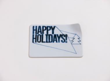 テーブルウェアクローゼット クリスマスレタープレート ハッピーホリデー クリア S