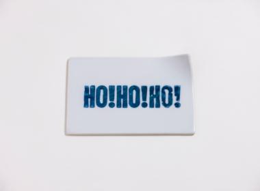 テーブルウェアクローゼット クリスマスレタープレート ホーホーホー クリア S