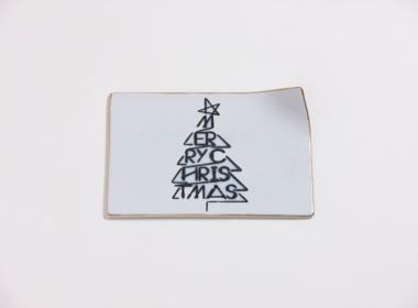 テーブルウェアクローゼット クリスマスレタープレート メリークリスマス ゴールド S