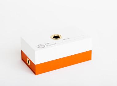 ダブルボトム ファビアン ホワイト-オレンジ