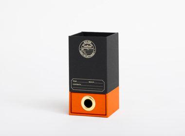 ダブルボトム エマ ブラック-オレンジ