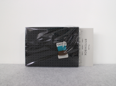 ステッチボックス ブラック M