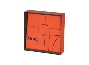 イナフ 万年カレンダー オレンジ