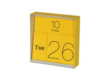 イナフ 万年カレンダー イエロー