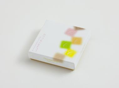 クリア印刷のチョコレート箱