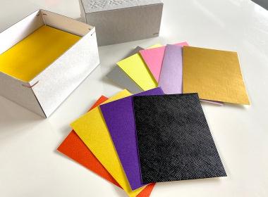 色や質感の異なる紙をアソートしてお届けします。内容は選べませんのでご了承ください。